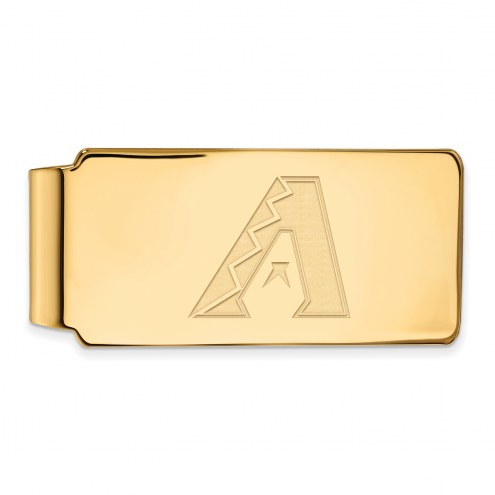 Arizona Diamondbacks Sterling Silver Gold Plated Money Clip