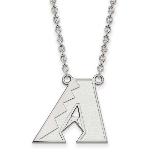 Arizona Diamondbacks Sterling Silver Large Pendant Necklace