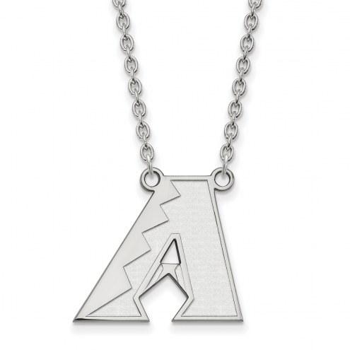 Arizona Diamondbacks Sterling Silver Large Pendant Necklace