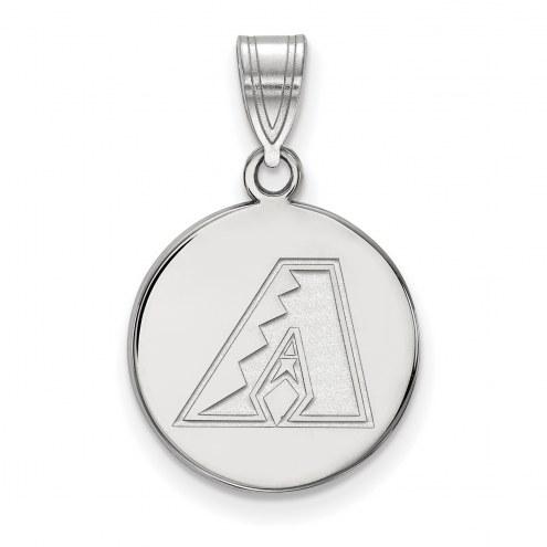 Arizona Diamondbacks Sterling Silver Medium Disc Pendant