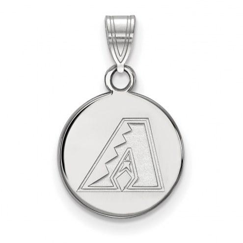 Arizona Diamondbacks Sterling Silver Small Disc Pendant