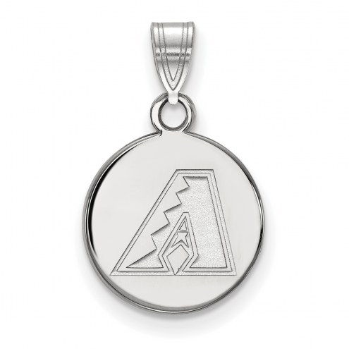 Arizona Diamondbacks Sterling Silver Small Disc Pendant
