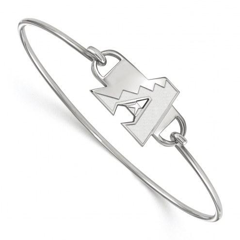 Arizona Diamondbacks Sterling Silver Wire Bangle Bracelet