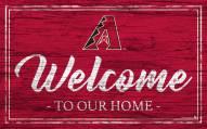 Arizona Diamondbacks Team Color Welcome Sign