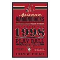 Arizona Diamondbacks Established Wood Sign