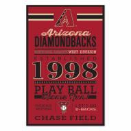 Arizona Diamondbacks Established Wood Sign