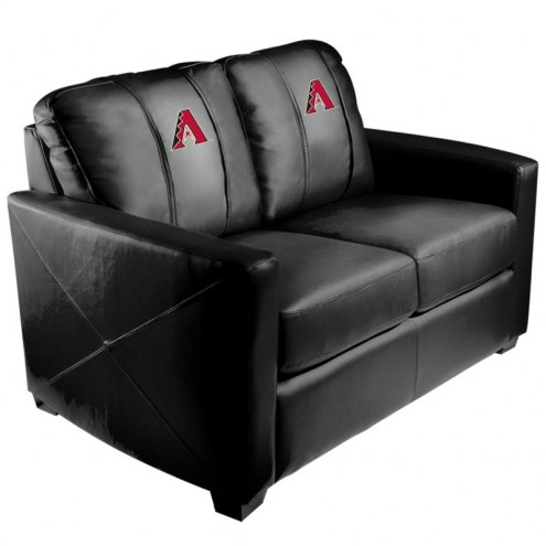 Arizona Diamondbacks XZipit Silver Loveseat with Primary Logo