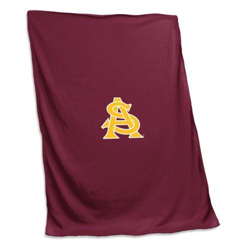 Arizona State Sun Devils Maroon Sweatshirt Blanket