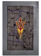 "Arizona State Sun Devils 11"" x 19"" City Map Framed Sign"