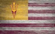 "Arizona State Sun Devils 11"" x 19"" Distressed Flag Sign"