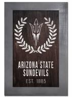 "Arizona State Sun Devils 11"" x 19"" Laurel Wreath Framed Sign"