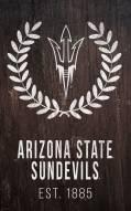 "Arizona State Sun Devils 11"" x 19"" Laurel Wreath Sign"