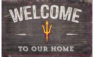 """Arizona State Sun Devils 11"""" x 19"""" Welcome to Our Home Sign"""