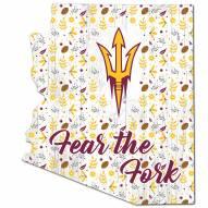 "Arizona State Sun Devils 12"" Floral State Sign"