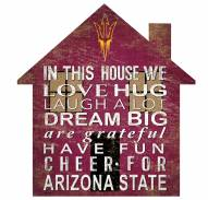 "Arizona State Sun Devils 12"" House Sign"
