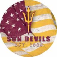 "Arizona State Sun Devils 12"" Team Color Flag Circle Sign"