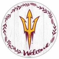 "Arizona State Sun Devils 12"" Welcome Circle Sign"