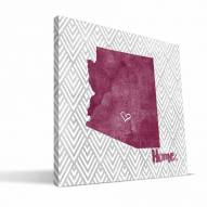 "Arizona State Sun Devils 12"" x 12"" Home Canvas Print"