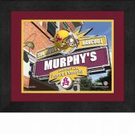 Arizona State Sun Devils 13 x 16 Personalized Framed Sports Pub Print