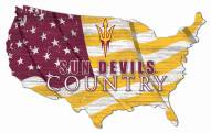 "Arizona State Sun Devils 15"" USA Flag Cutout Sign"