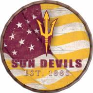 "Arizona State Sun Devils 16"" Flag Barrel Top"