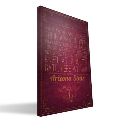 "Arizona State Sun Devils 16"" x 24"" Song Canvas Print"