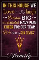 """Arizona State Sun Devils 17"""" x 26"""" In This House Sign"""