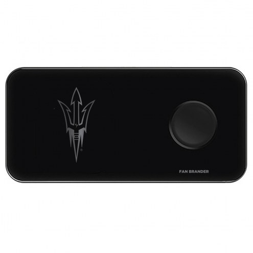 Arizona State Sun Devils 3 in 1 Glass Wireless Charge Pad