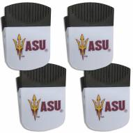Arizona State Sun Devils 4 Pack Chip Clip Magnet with Bottle Opener
