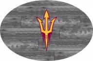 "Arizona State Sun Devils 46"" Distressed Wood Oval Sign"