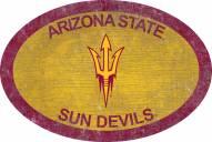 "Arizona State Sun Devils 46"" Team Color Oval Sign"