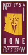 "Arizona State Sun Devils 6"" x 12"" Coordinates Sign"