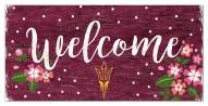 """Arizona State Sun Devils 6"""" x 12"""" Floral Welcome Sign"""