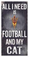 "Arizona State Sun Devils 6"" x 12"" Football & My Cat Sign"