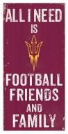 "Arizona State Sun Devils 6"" x 12"" Friends & Family Sign"