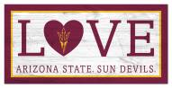 "Arizona State Sun Devils 6"" x 12"" Love Sign"