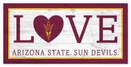 "Arizona State Sun Devils 6"" x 12"" Love Sign"