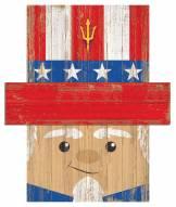 "Arizona State Sun Devils 6"" x 5"" Patriotic Head"