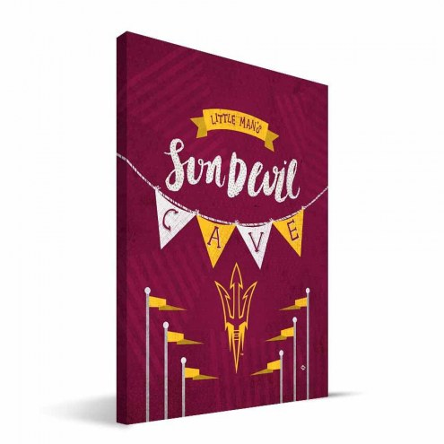 "Arizona State Sun Devils 8"" x 12"" Little Man Canvas Print"