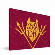 """Arizona State Sun Devils 8"""" x 12"""" Mascot Canvas Print"""