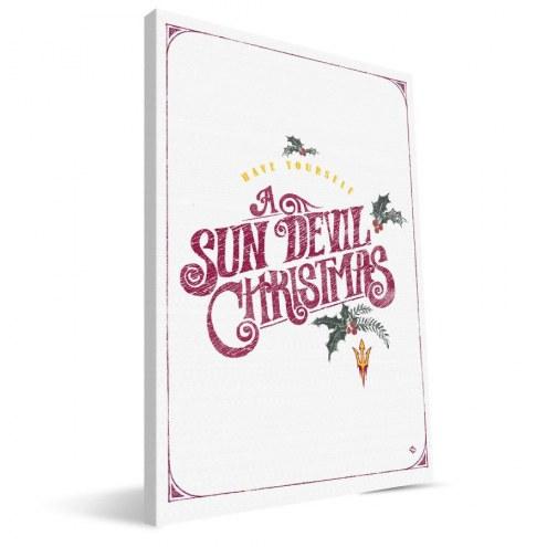 "Arizona State Sun Devils 8"" x 12"" Merry Little Christmas Canvas Print"