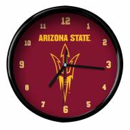 Arizona State Sun Devils Black Rim Clock
