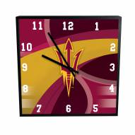 Arizona State Sun Devils Carbon Fiber Square Clock
