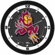 Arizona State Sun Devils Carbon Fiber Wall Clock