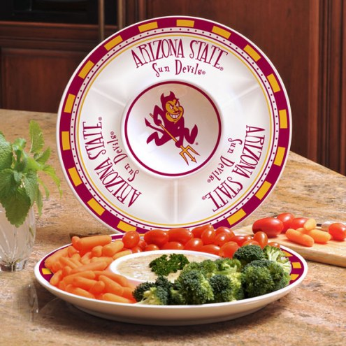 Arizona State Sun Devils Ceramic Chip and Dip Serving Dish