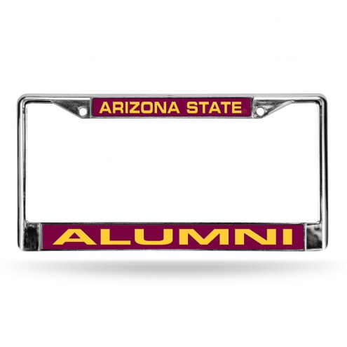 Arizona State Sun Devils Chrome Alumni License Plate Frame