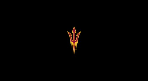 Arizona State Sun Devils College Team Logo Billiard Cloth
