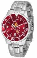 Arizona State Sun Devils Competitor Steel AnoChrome Color Bezel Men's Watch
