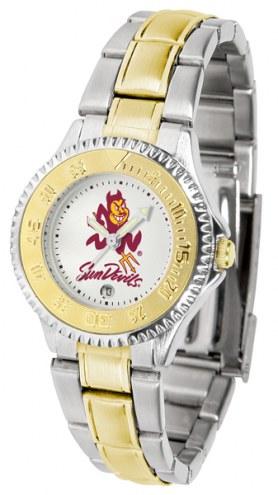 Arizona State Sun Devils Competitor Two-Tone Women's Watch
