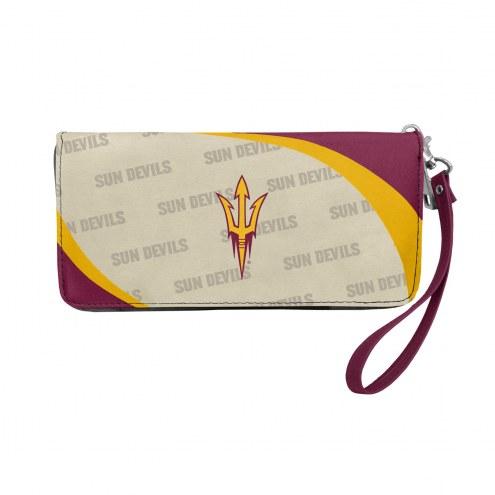 Arizona State Sun Devils Curve Zip Organizer Wallet